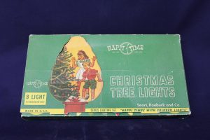 1950's Christmas lights outside of the box.