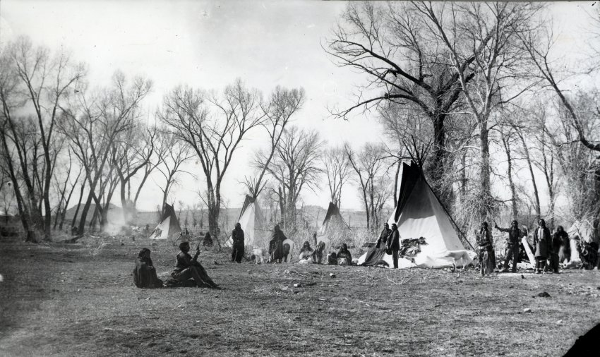 Ute camp. Photo # 1980.0013.0081, Loyd Files Research Library.