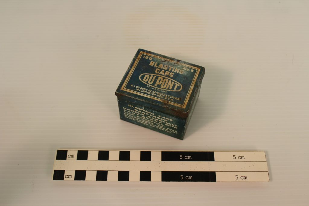 A Blasting Cap box from the BLM Collection.