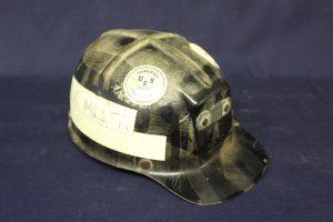 A coal miners helmet.