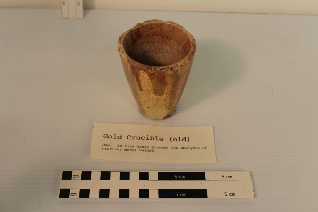 A gold crucible from the BLM Collection.