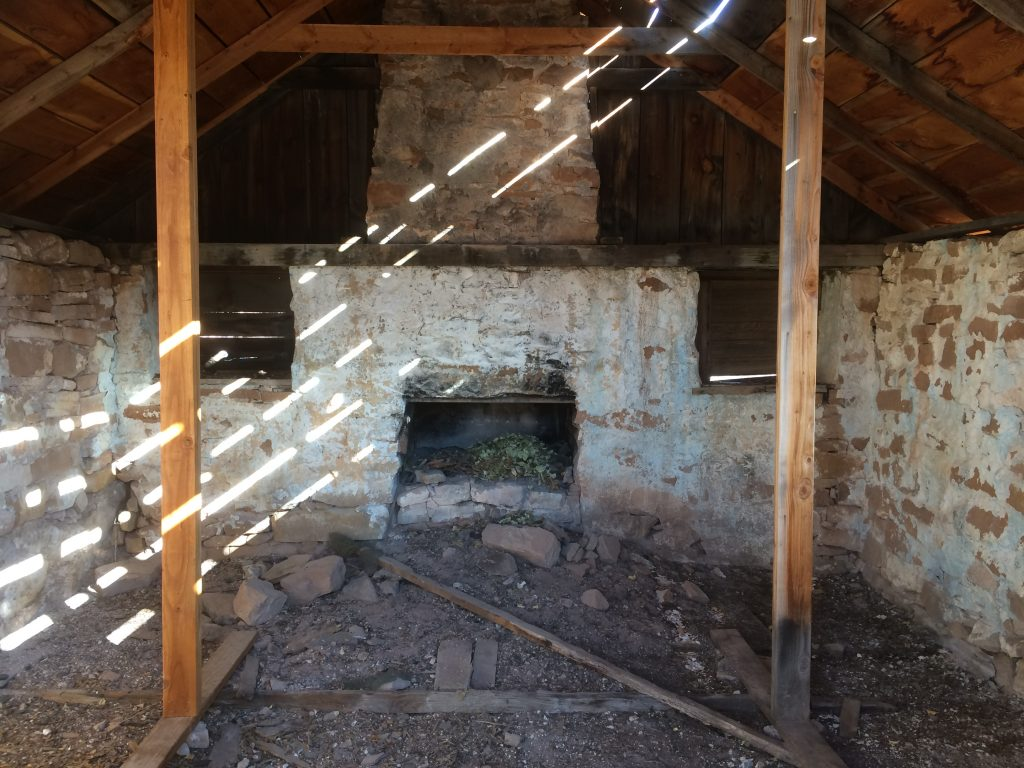 A great deal of work went into the building of Calamity Camp. The thick stone walls and this grand fireplace are evidence of the effort made to create a home far from civilization.