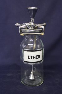 Ether was a gas used as an anesthesia for surgery.