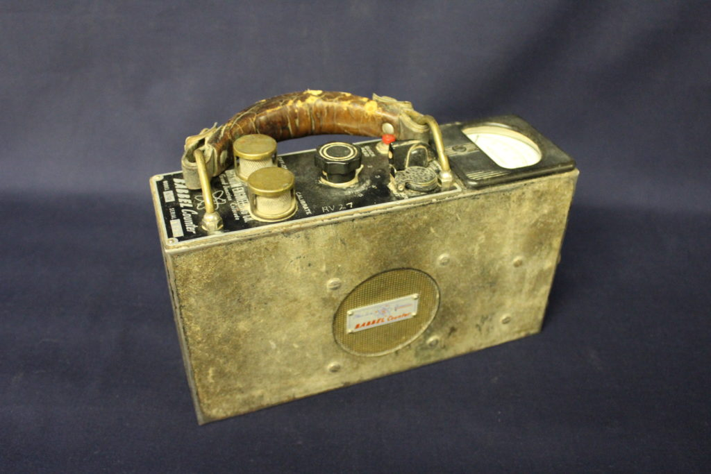 Geiger Counters like this were used to find uranium deposits. Babbel Geiger Counter, Museum of the West Object # 1992.40.1