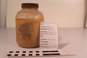 Jar of lard found in the cooking kit.