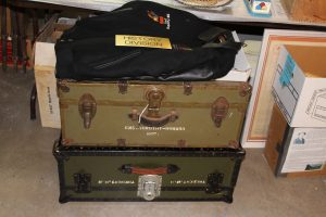 Military trunks waiting to be added to the collection.