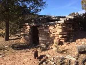 One of the remaining stone Cabins at Calamity camp.