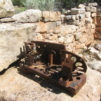 Radio found at Calamity Camp. In order to preserve the artifact, it was collected by BLM