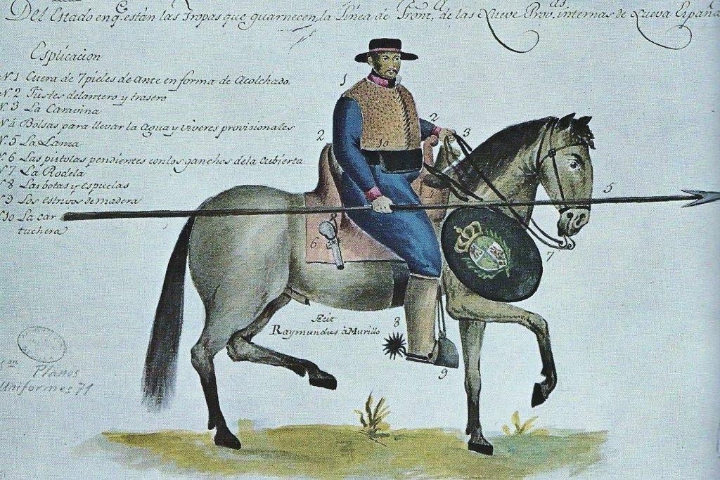Spanish horseman in the New World.
