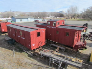 Some of the last existing Uintah train cars can be found at Cross Orchards.