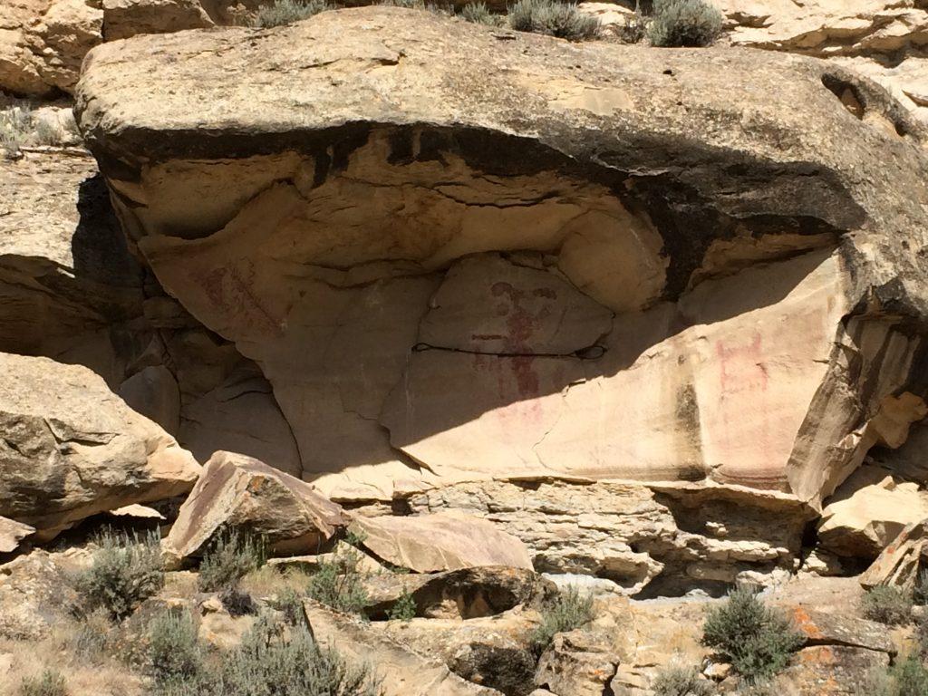 The Kokopelli figure in Canyon Pintado.