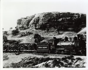 The Uintah Railway was used to remove gilsonite from the mines near Mack Colorado in the Bookcliff Mountains.