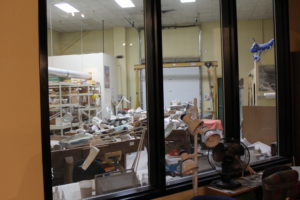 The dino lab at Dinosaur Journey. This is where the fossils found in the field are cleaned, restored and identified.