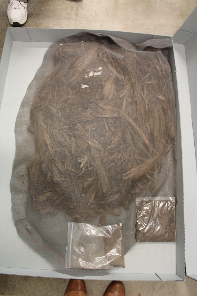 This willow bark mat was found inside of a wickiup. We think it is late Fremont or Early Ute. BLM Collection.