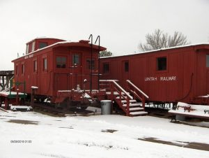 Uintah Railway cars today at the Cross Orchards Historic Site.