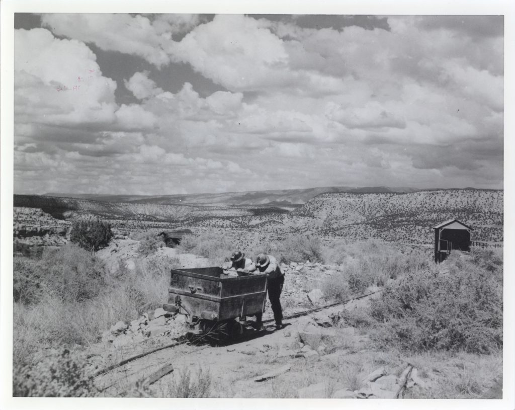 Uranium mining on the Colorado Plateau during the 1950s boom. William Chenoweth Collection, Loyd Files Research Library.