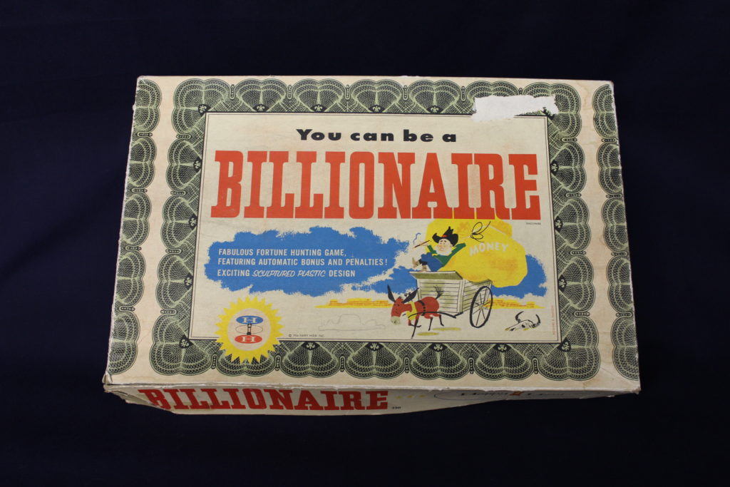 'You Can Be A Billionaire' game where you strike it rich on your very own Uranium mine! MWC Collection.